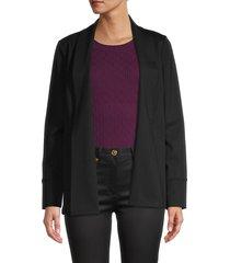 donna karan new york women's open-front blazer - black - size l