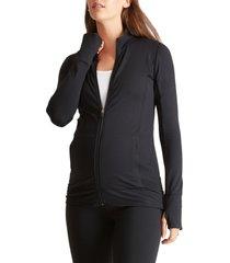 women's ingrid & isabel active maternity jacket, size x-small - black