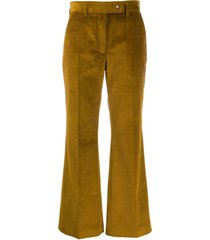 acne studios corduroy cropped trousers - brown