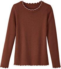 pullover, kastanje 34