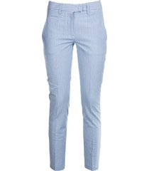 dondup striped slim trousers