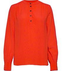 allyn pop over ls blouse blus långärmad orange tommy hilfiger