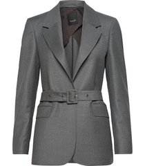 1698 - ivy belt 1/2 blazers business blazers grå sand