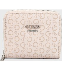 billetera rosado-camel guess
