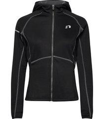 base warm up jacket hoodie trui zwart newline
