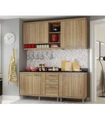 cozinha compacta completa multimã³veis com 4 peã§as sicãlia 5819 argila/argila - bege/incolor - dafiti