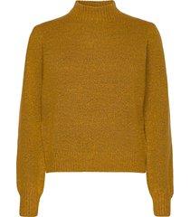 angie knit pullover stickad tröja gul minus