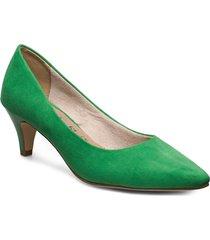 woms court shoe shoes heels pumps classic grön tamaris