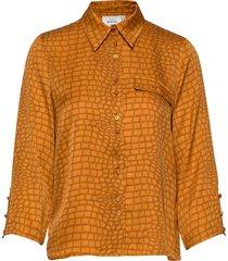 tabbygz shirt ms20 blouse lange mouwen geel gestuz
