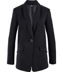 blazer ampio in punto di roma (nero) - bpc bonprix collection