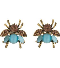 a.n.g.e.l.o. vintage cult 1980s insect brooch pair - gold