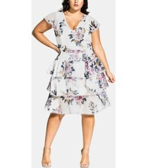 city chic trendy plus size summer love dress