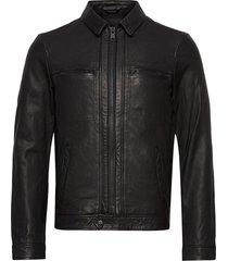 lark leather jacket läderjacka skinnjacka svart allsaints