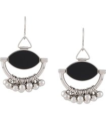 jil sander pendant sphere drop earrings - silver