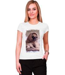 blusa criativa urbana pug dog cachorro frio inverno pet lovers branco