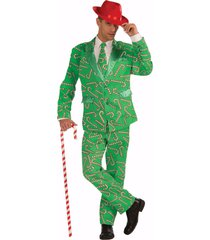 forum novelties candy cane suit christmas xmas holiday costume adult mens 72641