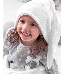cobertor com touca hug branco a2043 - branco - dafiti