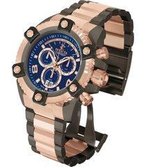 reloj invicta modelo 13045_out rosa oro, gunmetal masculino