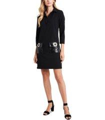 msk grommet-pocket a-line dress
