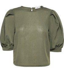 andrea blouses short-sleeved grön mango