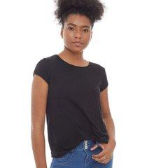camiseta esencial unicolor color negro, talla l