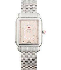 deco ii stainless steel & diamond bracelet watch
