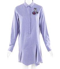 christian dior embroidered gingham shirt dress