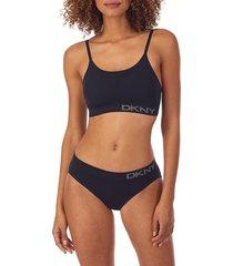 dkny women's stretch-bamboo wirefree bra - black - size xl
