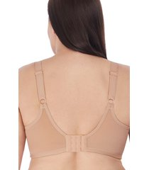 women's elomi smoothing molded underwire bra, size 44f - beige