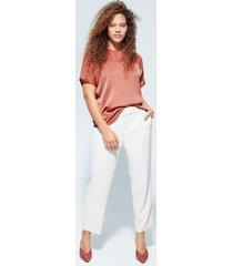 gecombineerde plumeti blouse