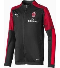 ac milan polyjack, rood/zwart, maat 164   puma