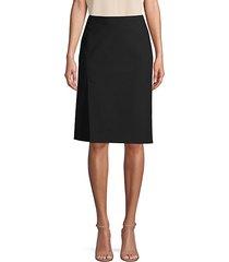 faux wrap cotton blend skirt