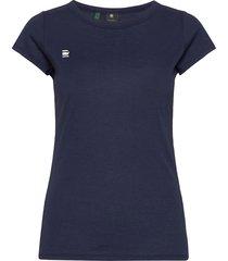 eyben slim r t wmn s\s t-shirts & tops short-sleeved blå g-star raw