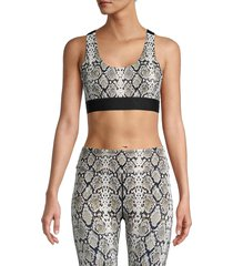 alala women's eclipse snake-print bra - snake - size s
