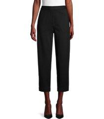 st. john women's milano cropped knit pants - black - size s