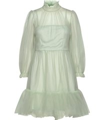 melany mini dress korte jurk groen by malina