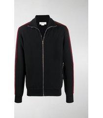 alexander mcqueen sleeves appliqués zipped jacket