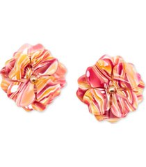 zenzii gold-tone & acetate layered flower stud earrings