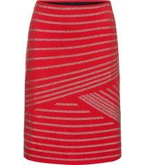 gonna elasticizzata con strass (rosso) - bodyflirt boutique
