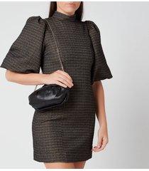 núnoo women's small lin clutch bag - black