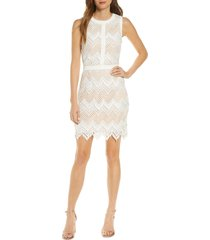 women's adelyn rae melody lace cocktail dress, size x-large - white