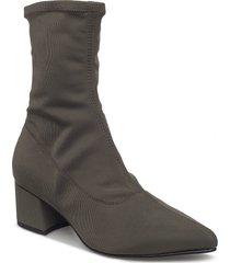 mya shoes boots ankle boots ankle boot - heel grön vagabond
