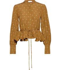 ren, 691 woven viscose blouse lange mouwen geel stine goya