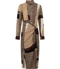 dress midi mixed graphic print