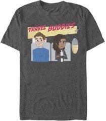 marvel men's spider-man far from home travel buddies, short sleeve t-shirt