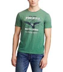 camiseta verde-blanco-azul polo ralph lauren m classics