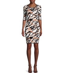 textured abstract-print dress