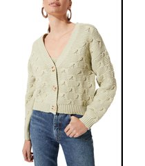 women's astr the label button front cardigan, size x-large - green