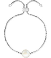 effy gray cultured freshwater pearl (10mm) bolo bracelet in sterling silver (also in pink & white cultured freshwater pearl)