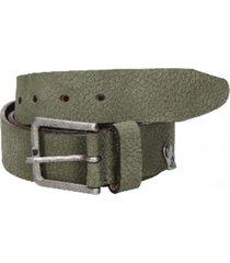 cinturón cuero variedad de texturas verde panama jack